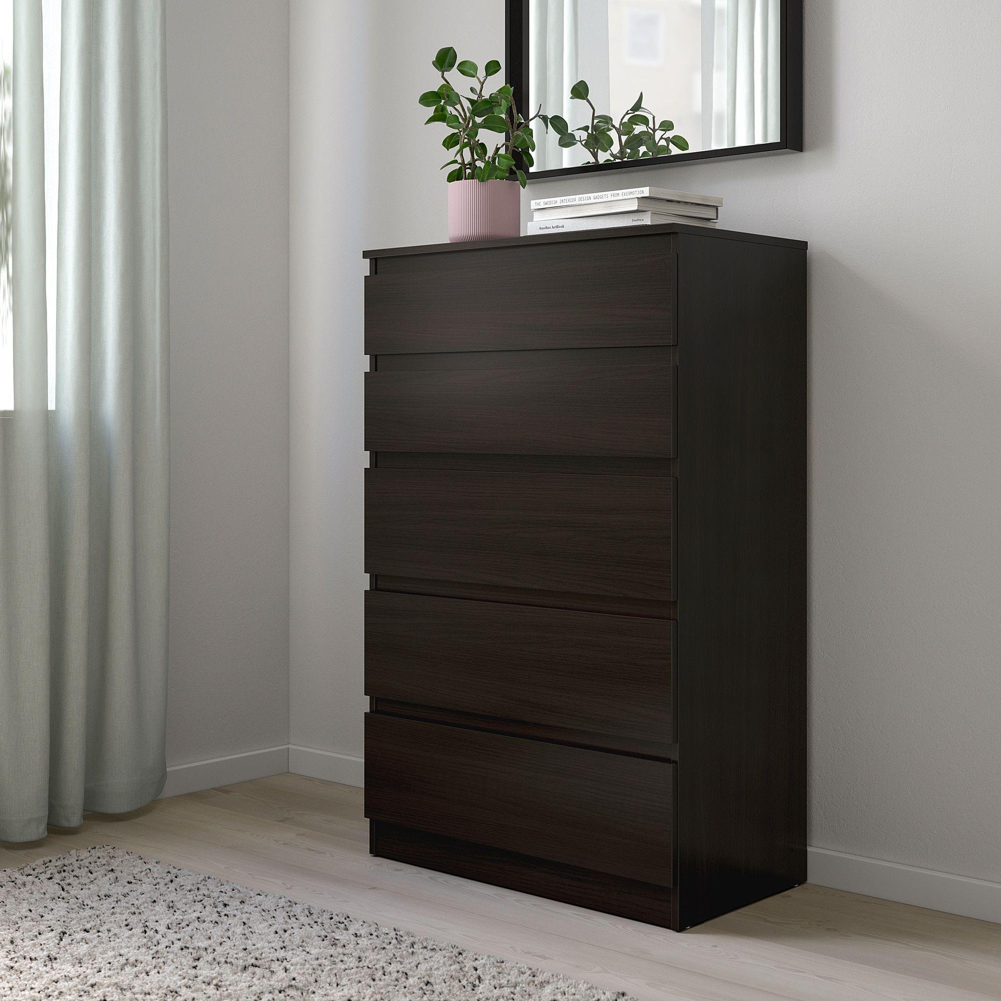 Best Ikea Kullen 5 Drawer Chest Black Brown In 2020 5 400 x 300