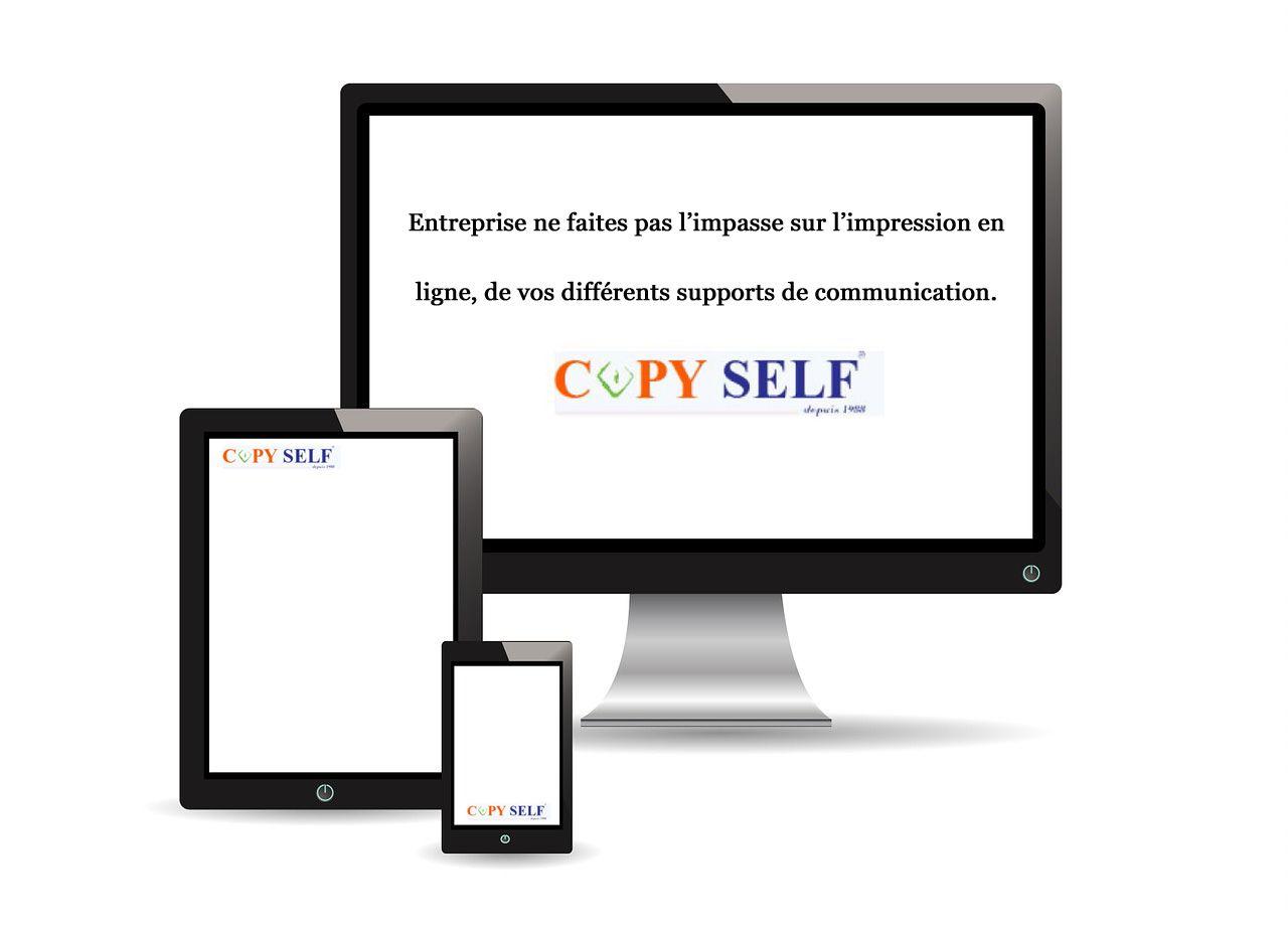 Entreprise ne faites pas l'impasse sur l'impression en ligne, de vos différents supports de communication. - Copyself