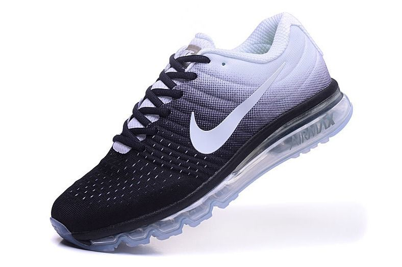 Nike Air Max 2017 Black White Running Shoes