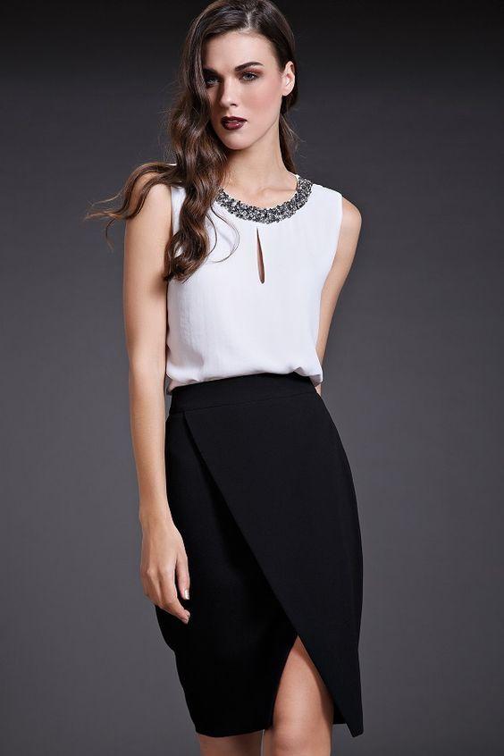8a2df61709 Resultado de imagen para conjuntos elegantes de pantalon y blusa juveniles