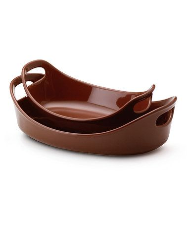 Take a look at this Rachael Ray Chocolate Bubble & Brown Baker Set by Chocolate Lovers Collection on #zulily today!