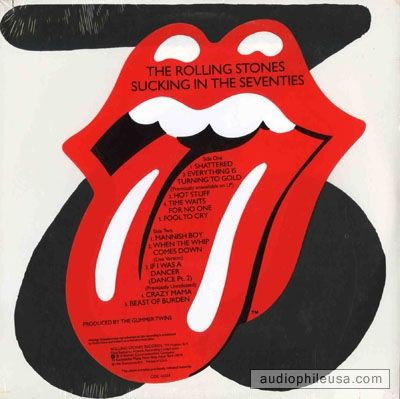 Rolling Stones - Sucking In The 70's - Vinyl. I don't know why it tripped me out, but it did. I spent quite a bit of time meditating on this cover.