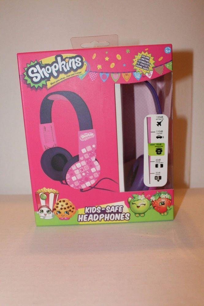 New Shopkins Shopkin Kids-Safe Kid Safe Headphone  Sakar  f8b4b242ff21