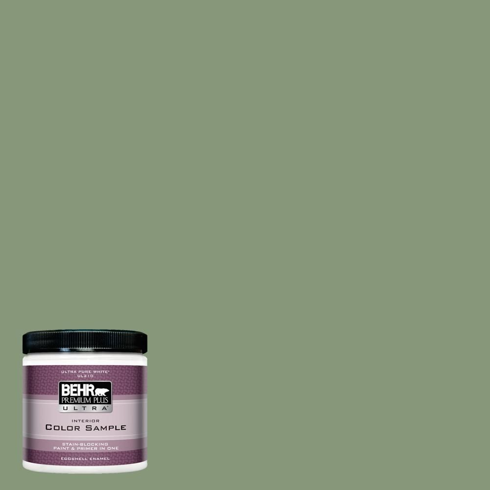 Behr Ultra 8 Oz S390 5 Laurel Tree Eggshell Enamel Interior Paint And Primer In One Sample Ul21316 Products Behr Premium Plus Exterior Paint Behr