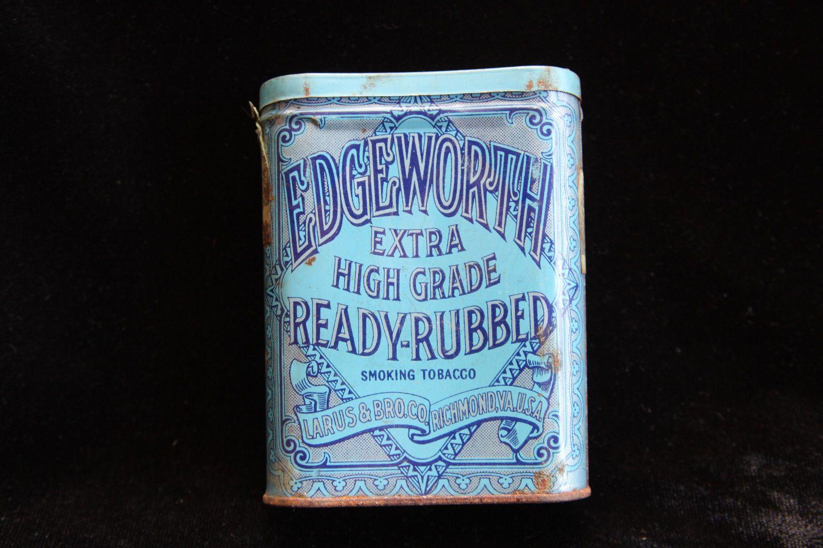 Vintage Tin - Edgeworth Extra High Grade Ready Rubbed Smoking Tobacco Concave | eBay