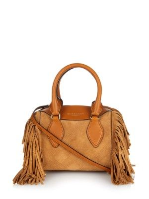 Mini Bee Fringed Suede Shoulder Bag Burberry Prorsum Matchesfashion Com Uk