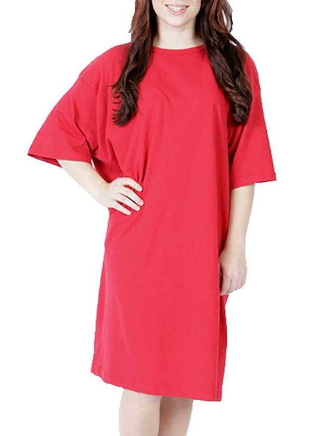 Cotton plain night shirts come in fun colors at GuyGifter.com. Also use as  a swimsuit cover up! c3bd1361f