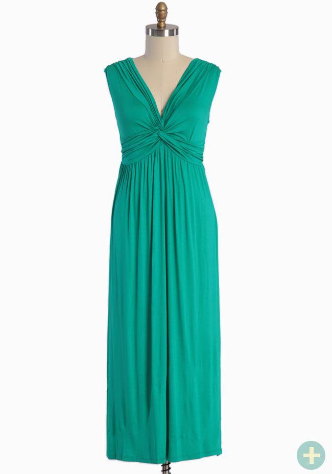 Makeeda Knot Curvy Plus Maxi In Jade