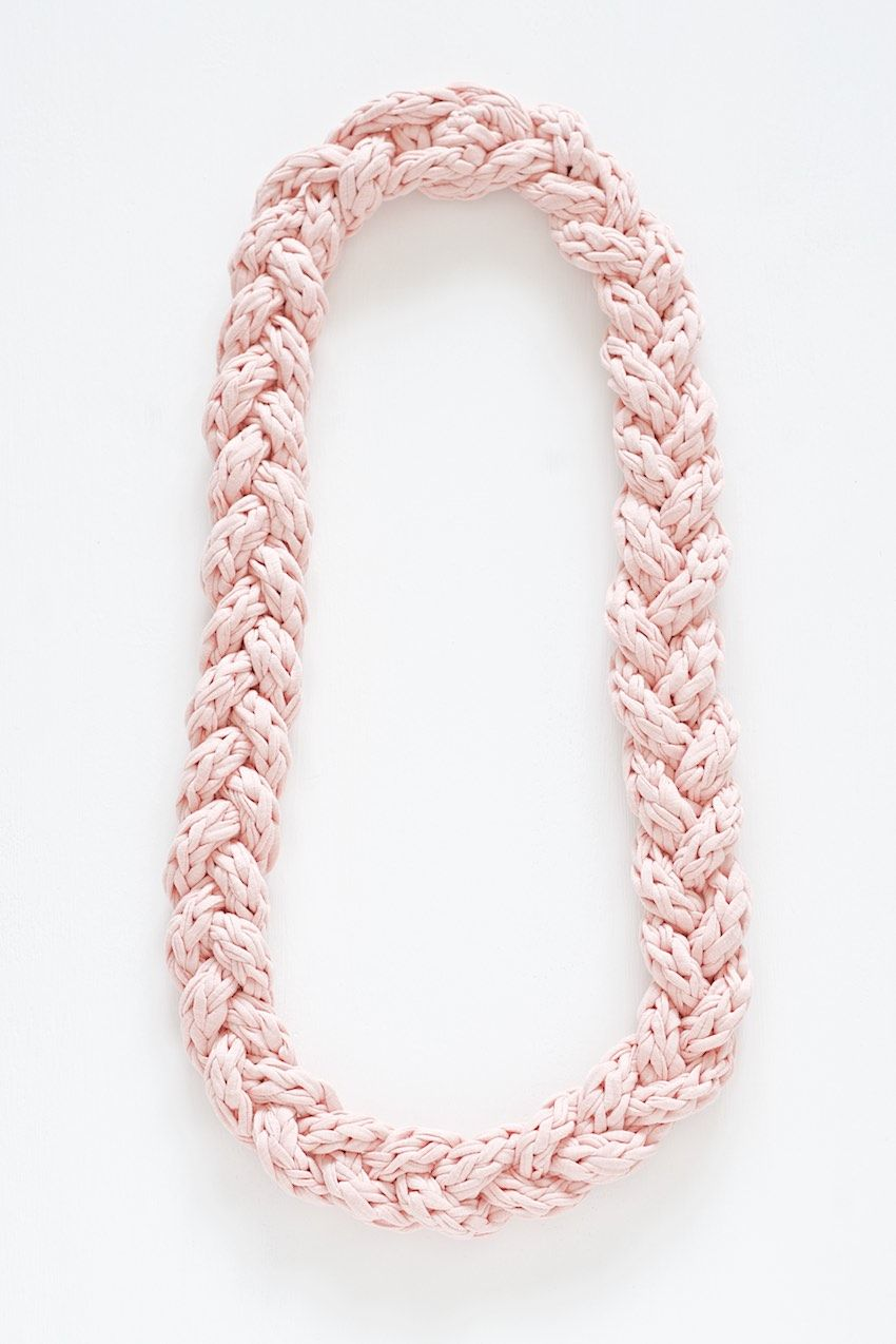 How to knit a cord and braid a necklace with it | Knitting ...