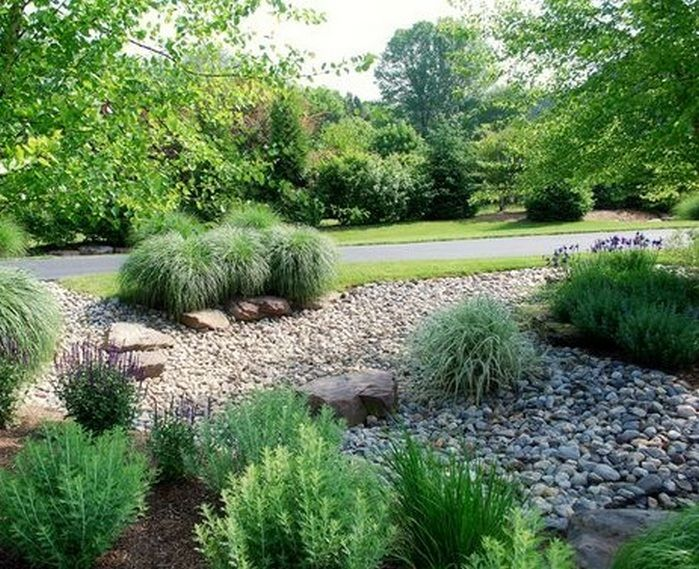 Awesome Rain Garden Design Landscaping Front Yards_46