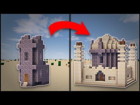 Minecraft how to transform a desert village church mosque minecraft how to transform a desert village church mosque youtube malvernweather Choice Image