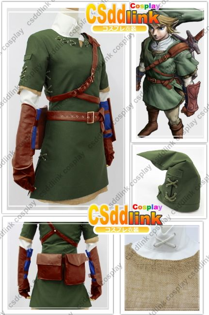 Legend of Zelda Zelda Link Cosplay Costume csddlink outfit | Legend ...