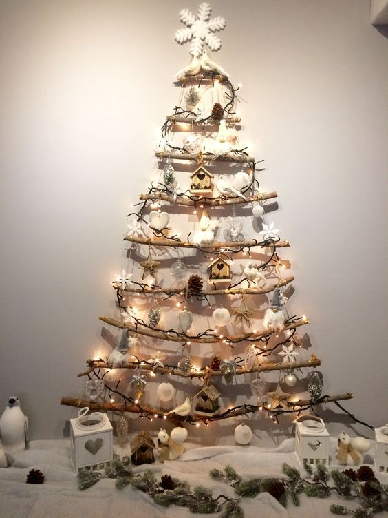 Easy DIY Christmas Decorations on a Budget Simple – Tree Made from Twigs