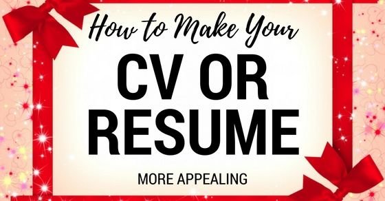 14 Tricks to Make Your CV More Appealing Job Search Pinterest - format on how to make a resume