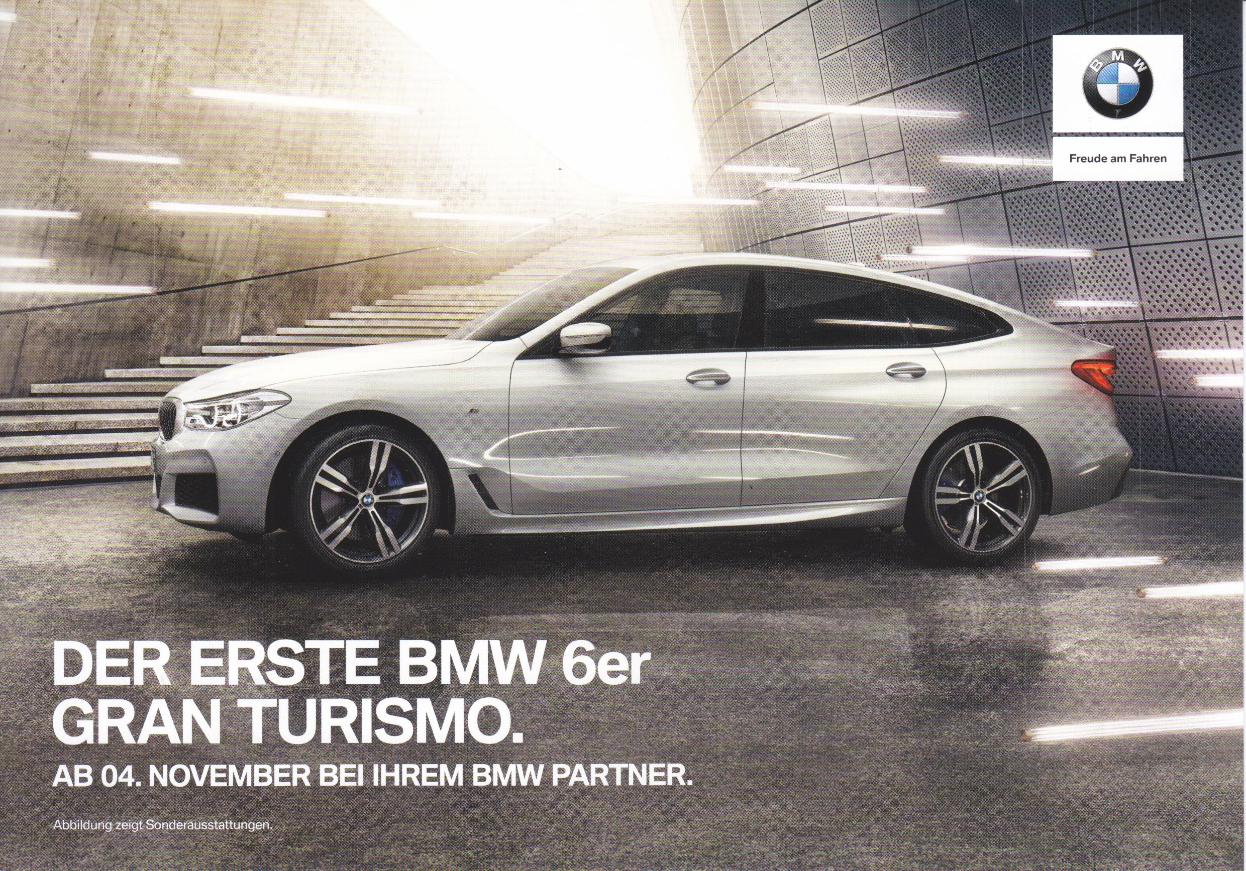 Bmw 6 Series Gt Fact Card Double Sided A5 Format German Bmw 6