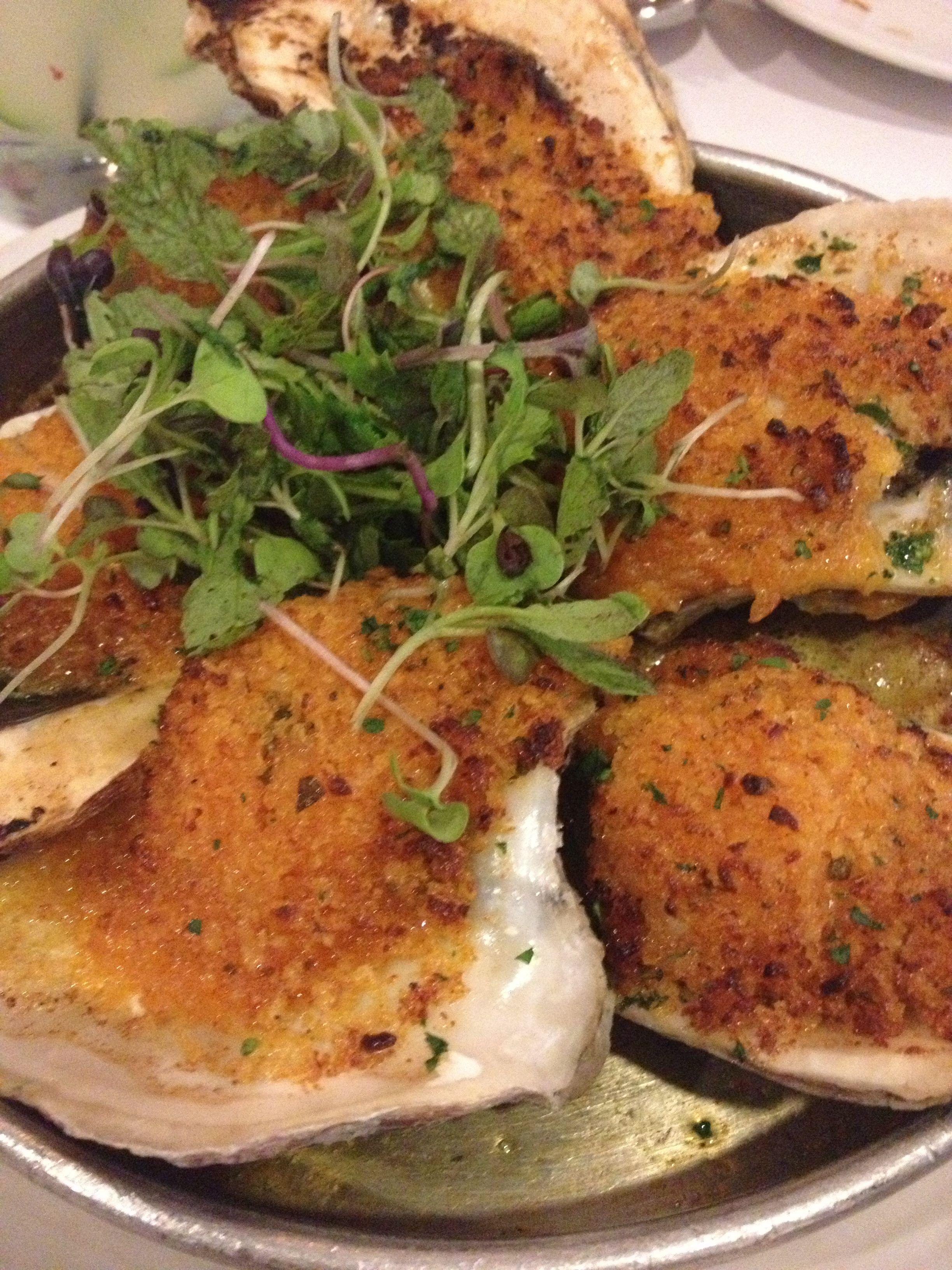 Garlicky baked oysters chef john besh pork belly