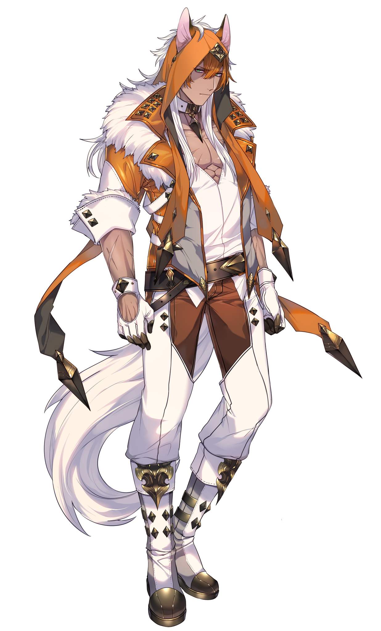 Anime Wolf Ears Male bokunoheroacademia katsuki