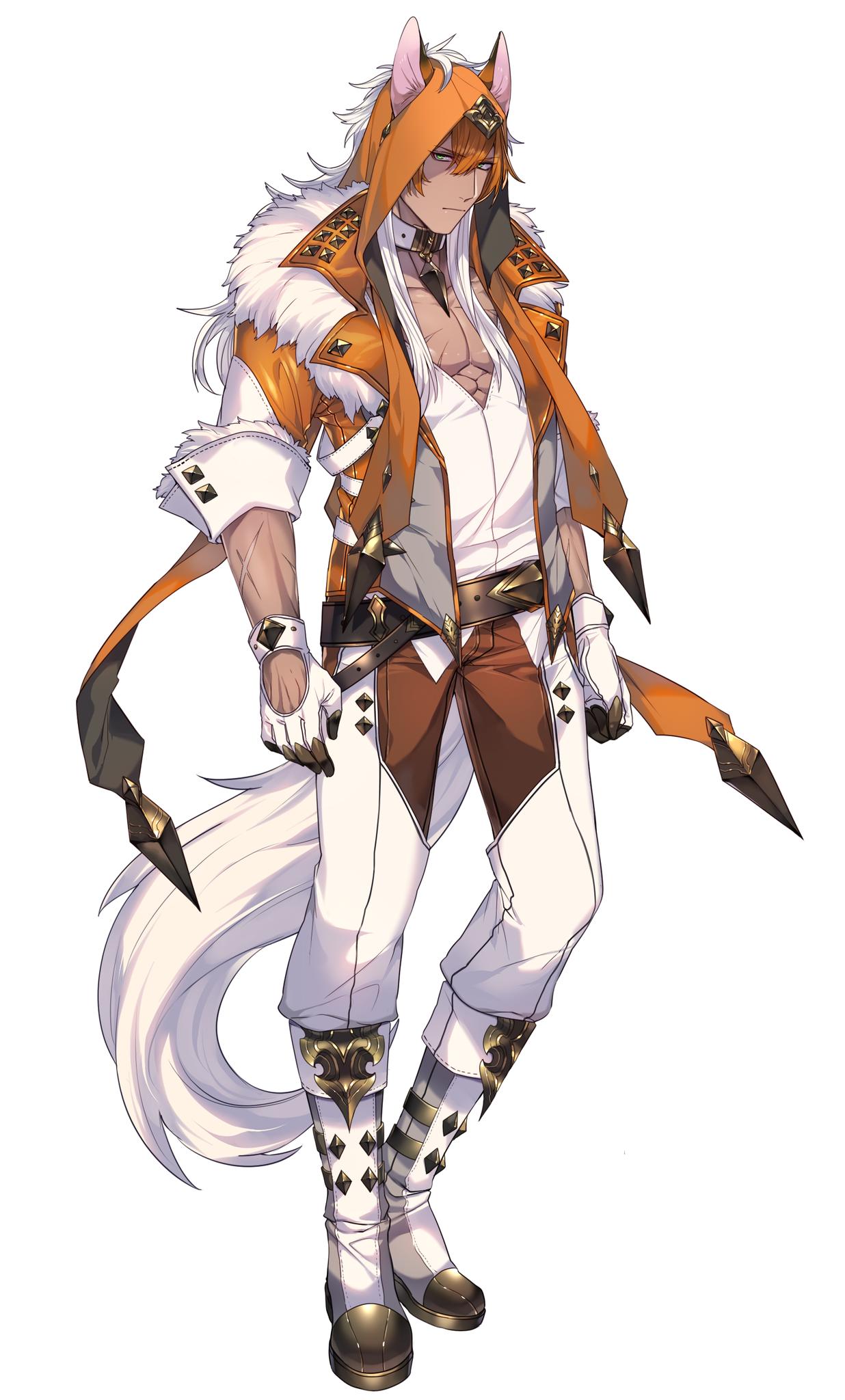 Anime Wolf Ears Male Bokunoheroacademia Katsuki Bakugoucosplay En 2020 Personajes De Fantasia Diseno De Personajes Arte De Personajes