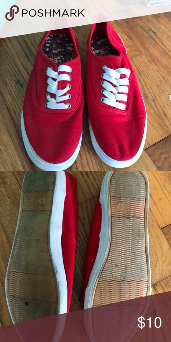 Red off brand vans   Vans, Sneakers, Brand