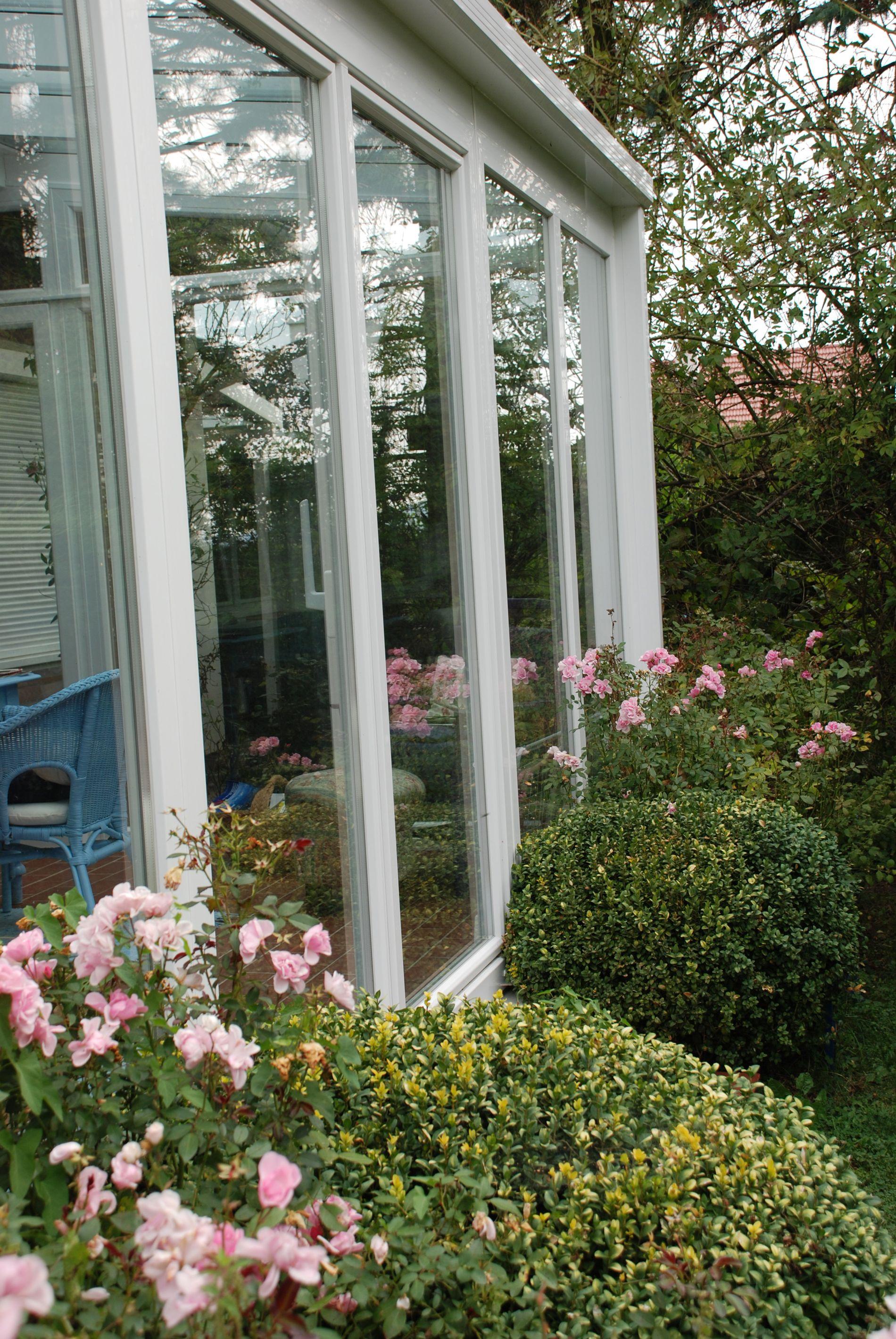 Schiebetüren mit viel Glas für Wintergarten Wintergarten