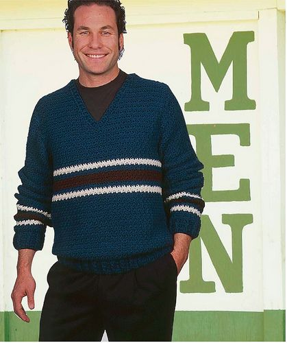 Sweater from The Crochet Dude\'s Designs for Guys - 30 projects men ...