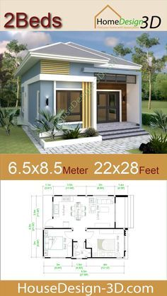 Small Mansion 6 5x8 5 Meter 22x28 Feet Hip roof Pro Home DecorS