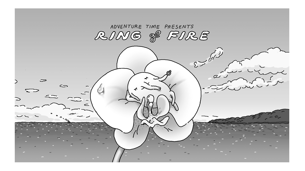 King of ooo ring of fire title card designed by steve