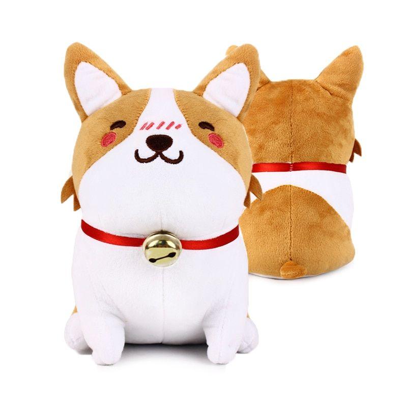 1pc 22cm Cute Corgi Dog Plush Toys Soft Cartoon Stuffed Puppy