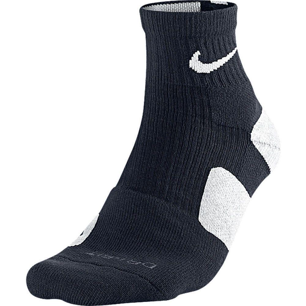 Nike dri fit elite high quarter socks blackwhite sx3718