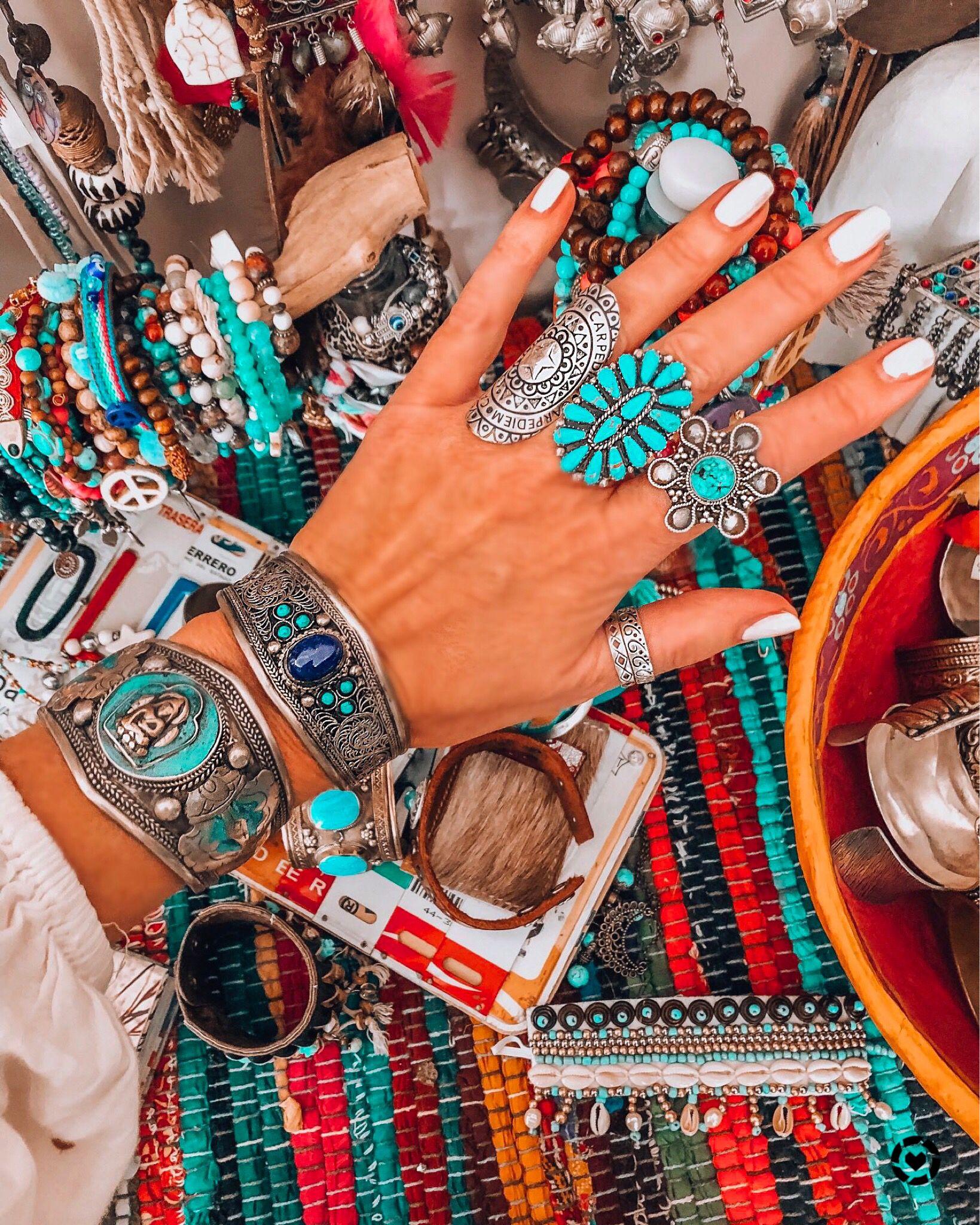 Jewelry bohemian chic style