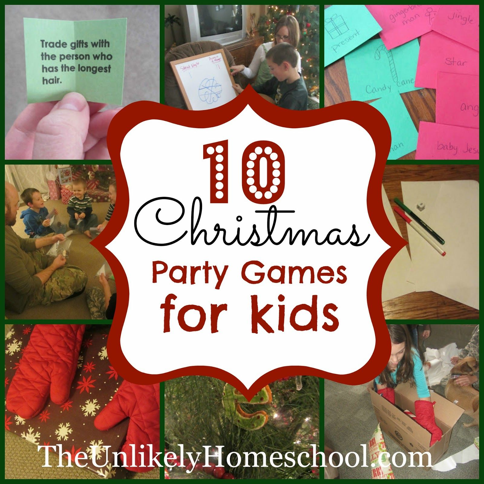 10 Christmas Party Games for Kids Christmas party games