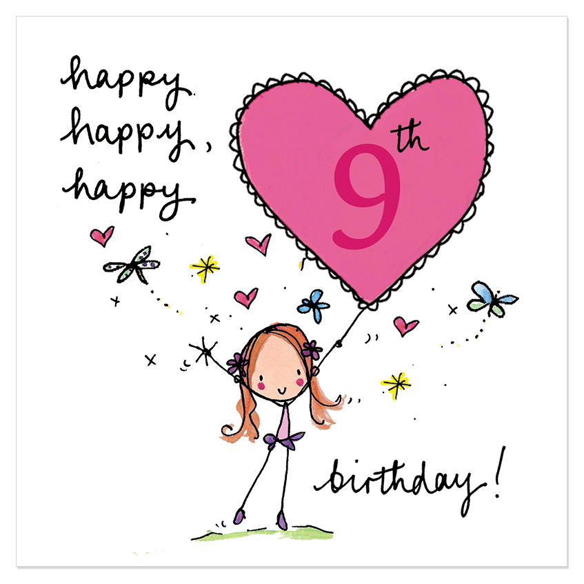 Happy 9th Birthday Birthday Cards Messages Sayings Greeting And