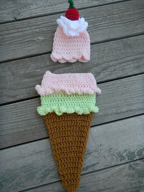 Ravelry: Ice Cream Cone Cocoon and Hat Set pattern by Cadi Schmidt ...