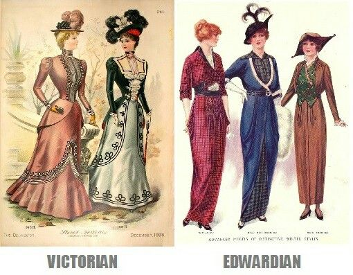 Edwardian Era Vs Victorian Era An Easy Example Of The Difference Between Victorians And Edwardians Can Be Found Edwardian Era Fashion Edwardian Edwardian Era