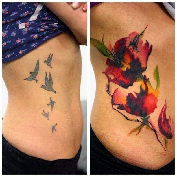 Belagoria La Web De Los Tatuajes Flower Cover Up Tattoos Cover Up Tattoos Before And After Cover Up Tattoos