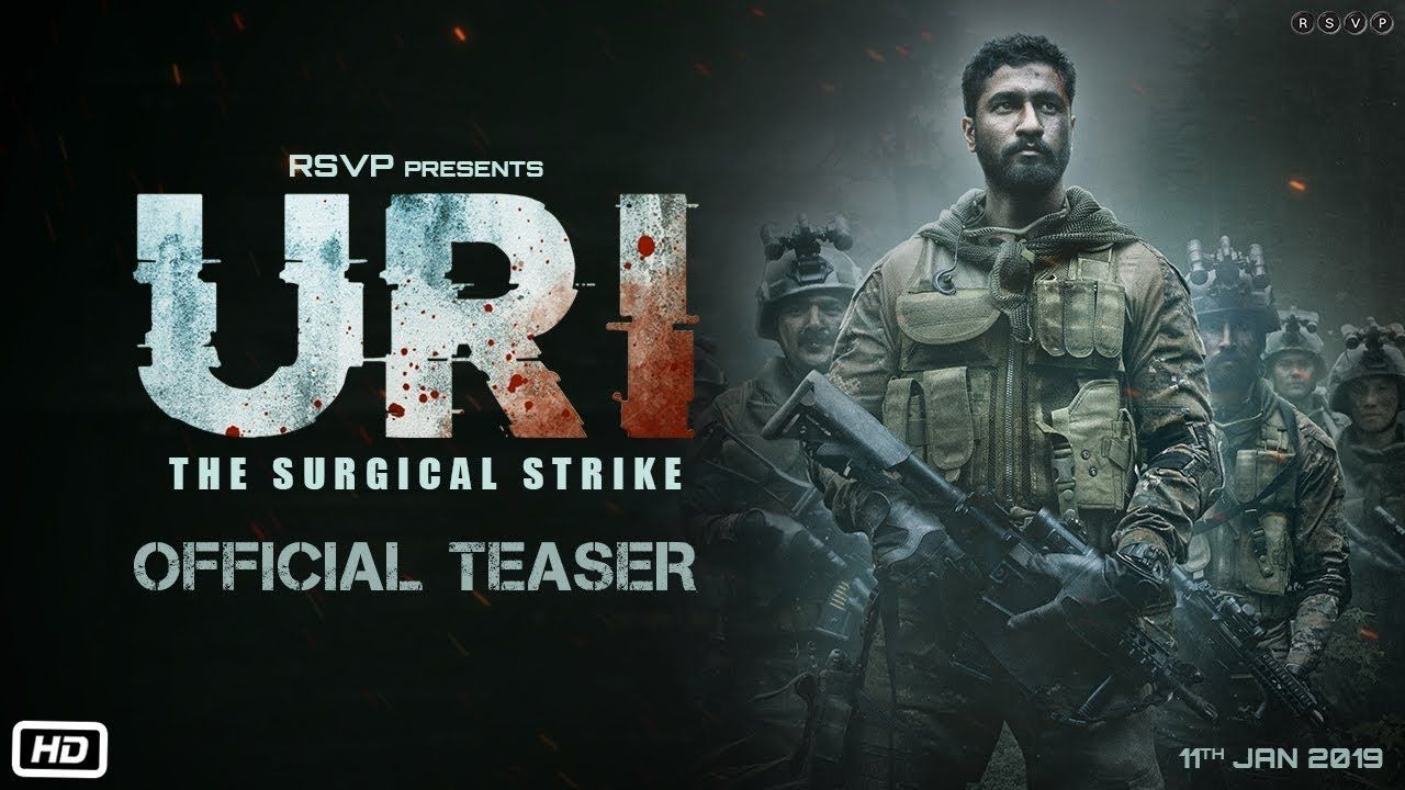 Uri Official Teaser Vicky Kaushal Yami Gautam Aditya Dhar 11th In 2020 Full Movies Download Download Movies Full Movies