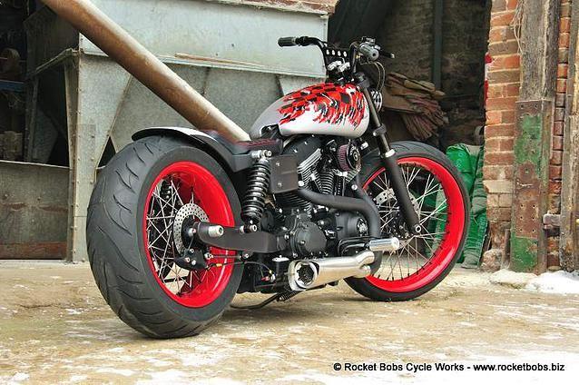 Custom Harley-Davidson Street Bob build, VOODOO BOB | Rocket Bobs