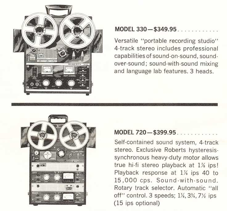 1967 Information On The Roberts Tape Recorders In Reel2reeltexas
