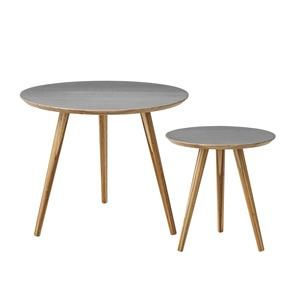 Bloomingville Tables Bamboo/Grey, Set of 2  Ø59xH46/Ø39xH40,5 cm Product id:89200000 Price:EUR 119,00