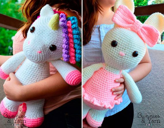 Amigurumi Doll Lalaloopsy Pattern : Two crochet patterns in english mimi the friendly unicorn and