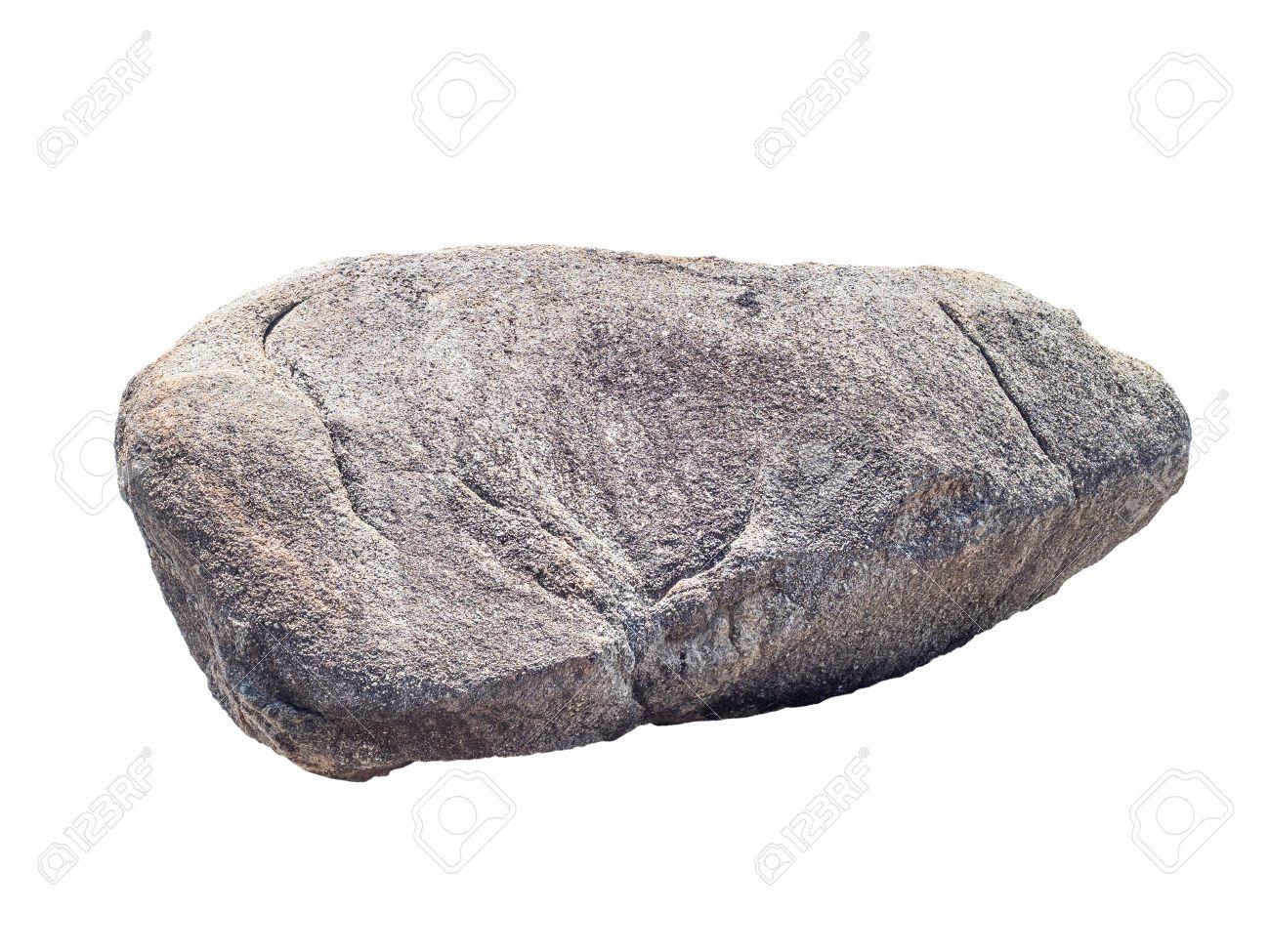 Large White Granite Rock : Big granite rock stone isolated on white