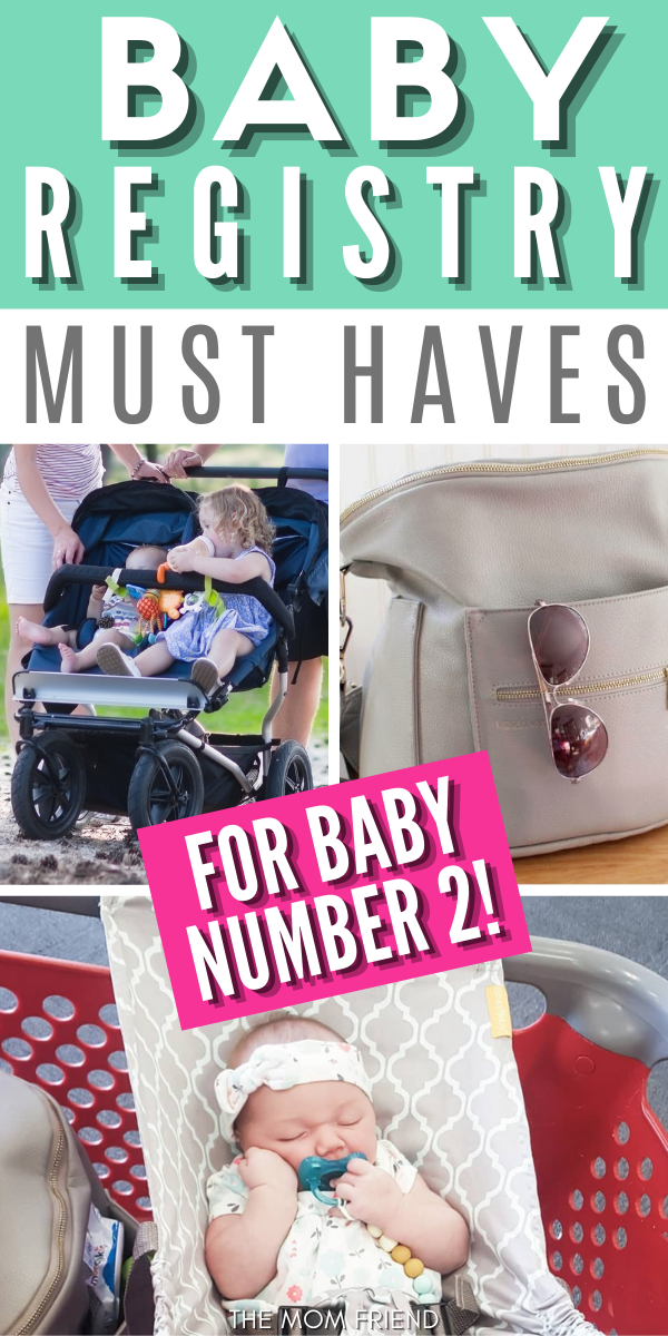 This is the ultimate baby registry checklist for a second pregnancy. Must haves for your 2cd baby. This baby registry checklist is a minimalist list of essentials that skips baby registry items for new moms that a first child already has. #babyregistry #babyregistrychecklist #babygear #baby #pregnancy #pregnant #newmom #newmoms #firsttimemom #motherhood #mom #pregnancytips #pregnancyhacks