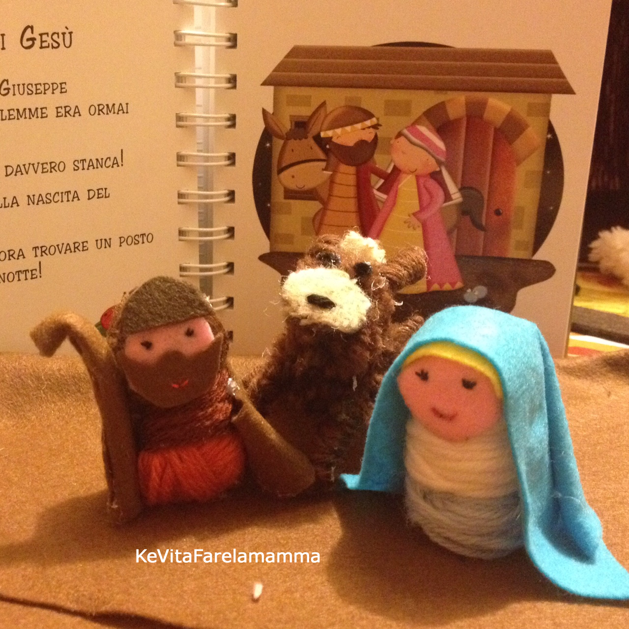 Christmas DIY nativity Presepe di lana Natale