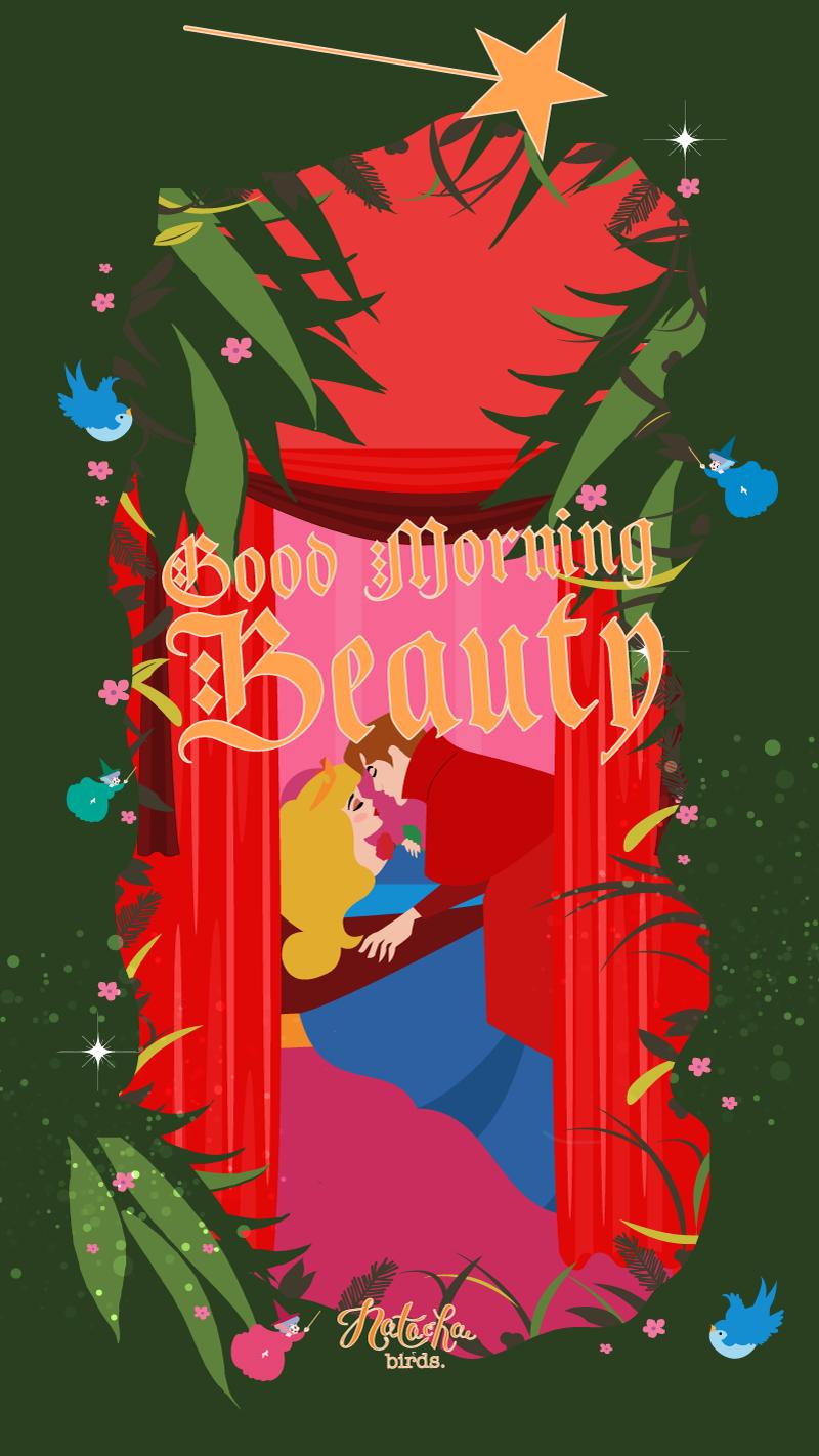 Beauty Iphone Wallpaper Disney Phone Bird Disneyland Wallpapers Sleeping Art