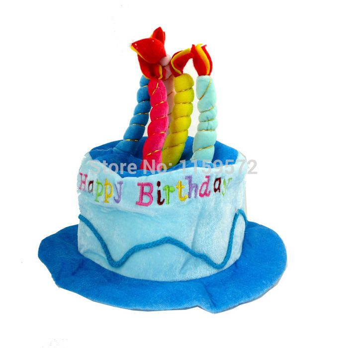Free Shipping Birthday Cake Hat For Children And Adult In Party Props 70g