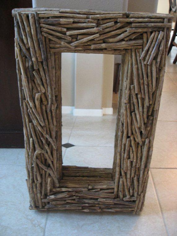 Stunning Heavy Duty Rustic Western Branch Twigs Twig Wood Mirror