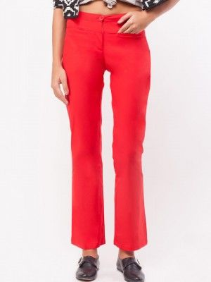 ce47b4765c5 KOOVS Front Pocket Boot Cut Trousers | trouser online shop in india ...