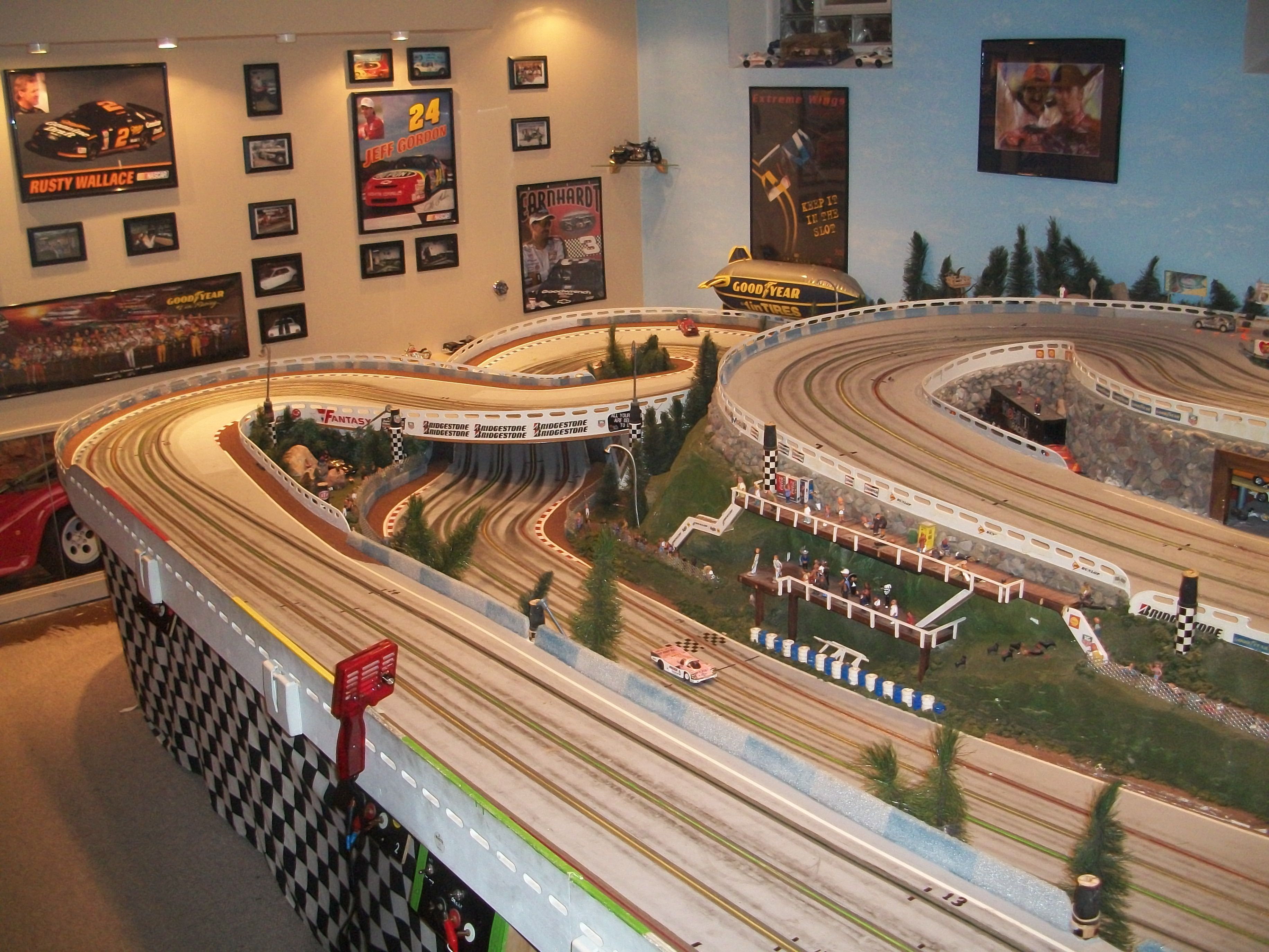 1/2 scale, wood routed slot car track Slot cars, Slot