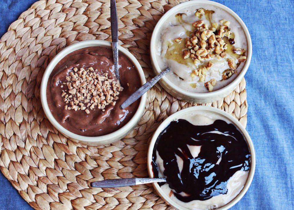 Non-dairy ice cream, banana based