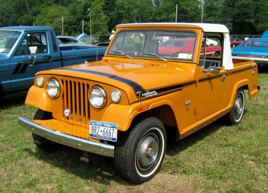 1970 Jeepster commando pickup orange | Jeepster, Jeepster commando ...